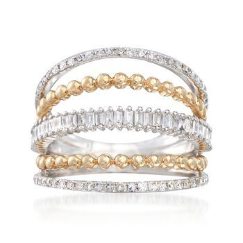.60 ct. t.w. Diamond Open Multi-Row Ring in 14kt Two-Tone Gold, , default