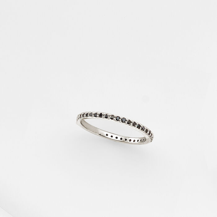 .33 ct. t.w. Black Diamond Eternity Band in 14kt White Gold