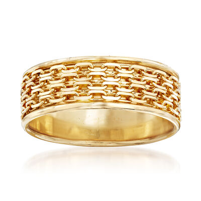 Bismark-Link Band Ring in 14kt Yellow Gold, , default