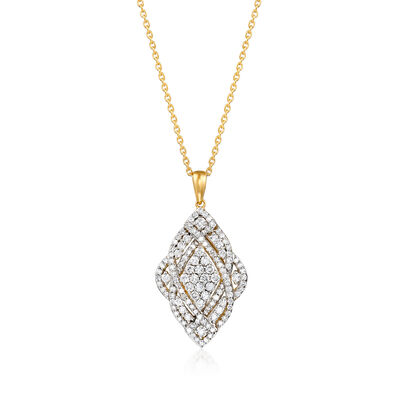 1.00 ct. t.w. Diamond Marquise-Shaped Pendant Necklace
