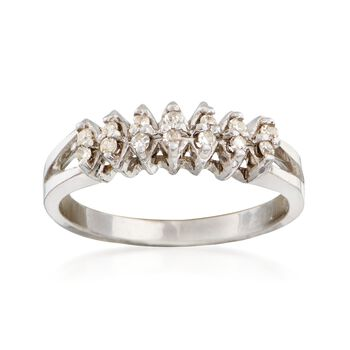 C. 1970 Vintage .20 ct. t.w. Diamond Ring in 14kt White Gold. Size 6, , default