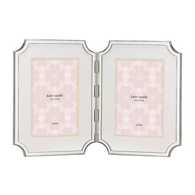 "Kate Spade New York ""Sullivan Street"" Silver-Plated 4x6 Double Frame"