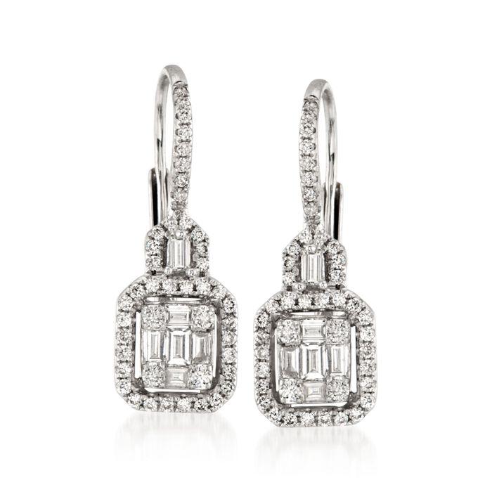 Gregg Ruth .85 ct. t.w. Diamond Earrings in 18kt White Gold