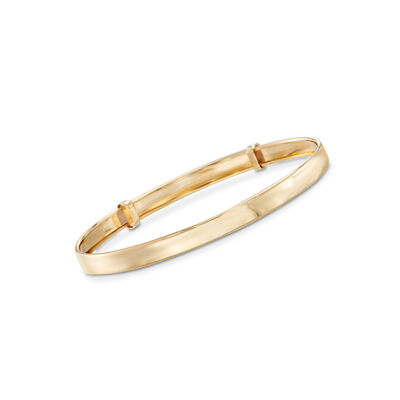 Child's 14kt Yellow Gold Adjustable Bangle Bracelet, , default