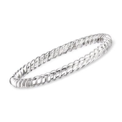 "Phillip Gavriel ""Italian Cable"" Twisted Bangle Bracelet in Sterling Silver, , default"