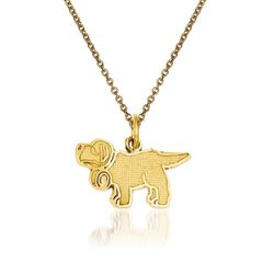 "14kt Yellow Gold Saint Bernard Pendant Necklace. 18"", , default"