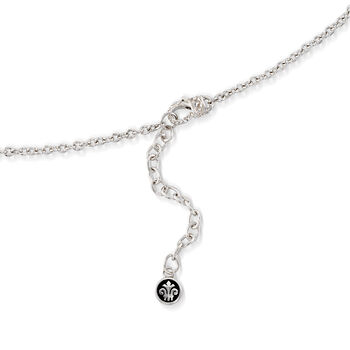 """Andrea Candela """"Fugaz"""" 4.40 ct. t.w. Multi-Gemstone and Diamond Drop Necklace in 18kt Gold and Sterling. 17"""", , default"""
