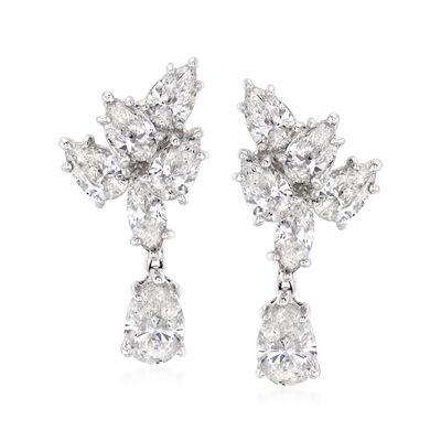 2.15 ct. t.w. Diamond Earrings in 18kt White Gold