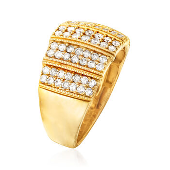 C. 1980 Vintage 1.30 ct. t.w. Diamond Ring in 14kt Yellow Gold. Size 9, , default