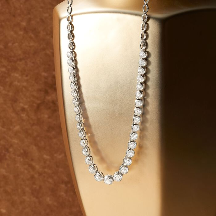 2.00 ct. t.w. Diamond Necklace in Sterling Silver