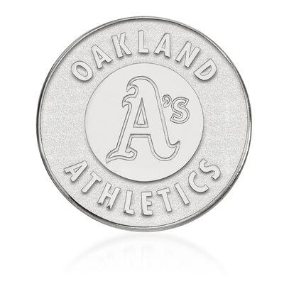 Sterling Silver MLB Oakland Athletics Lapel Pin, , default