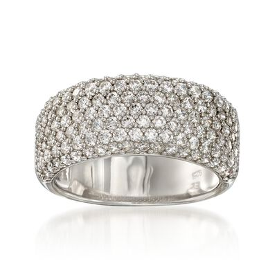 1.70 ct. t.w. Pave CZ Ring in Sterling Silver, , default