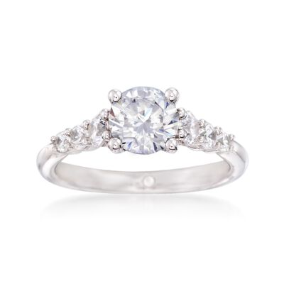 Gabriel Designs .50 ct. t.w. Diamond Engagement Ring Setting in 14kt White Gold
