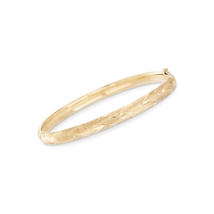 "Baby's 14kt Yellow Gold Bangle Bracelet. 5.5"""