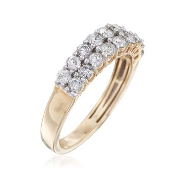 1.00 ct. t.w. Double-Row Diamond Ring in 14kt Yellow Gold, , default