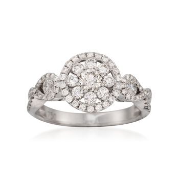 Roberto Coin 1.08 ct. t.w. Diamond Ring in 18kt White Gold. Size 6.5, , default