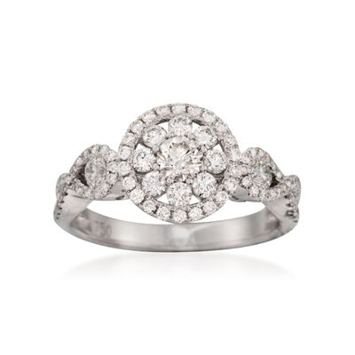 Roberto Coin 1.08 ct. t.w. Diamond Ring in 18kt White Gold, , default