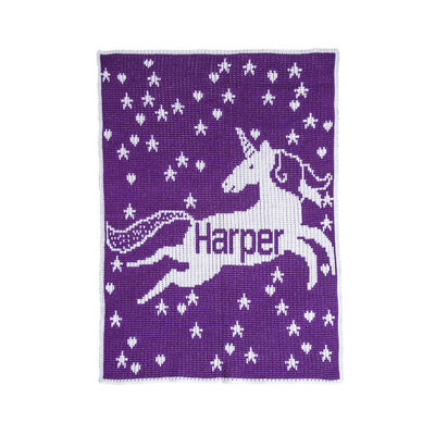 Child's Butterscotch Blankees Personalized Unicorn and Stars Blanket, , default