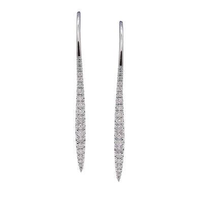 .58 ct. t.w. Diamond Threader Earrings in 18kt White Gold