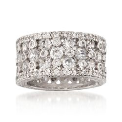 4.35 ct. t.w. CZ Multi-Row Eternity Band in Sterling Silver, , default
