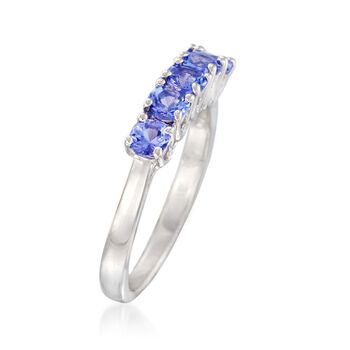 .70 ct. t.w. Tanzanite Five-Stone Ring in Sterling Silver, , default
