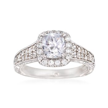 Gabriel Designs .70 ct. t.w. Diamond Engagement Ring Setting in 14kt White Gold, , default