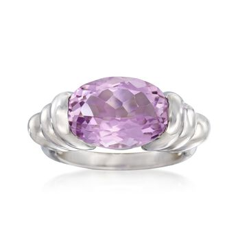 4.90 Carat Amethyst Ring in Sterling Silver, , default