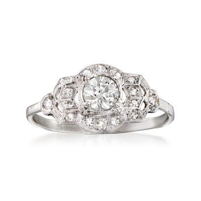 C. 2000 Vintage .76 ct. t.w. Diamond Cocktail Ring in Platinum