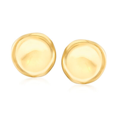 Roberto Coin 18kt Yellow Gold Round Button Earrings, , default