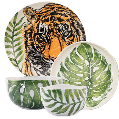 """Vietri """"Into the Jungle"""" Serving Bowl from Italy"""