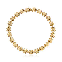 """C. 1990 Vintage Tiffany Jewelry """"Sclumberger"""" 18kt Yellow Gold Necklace. 16"""", , default"""