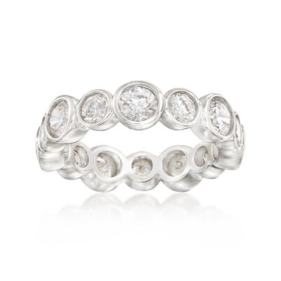 3.35 ct. t.w. CZ Eternity Band in Sterling Silver, , default