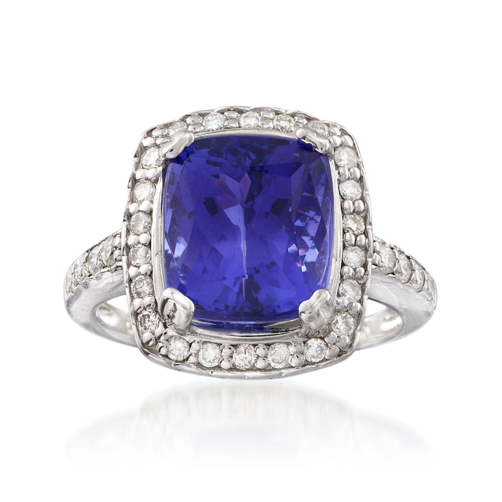 carat tanzanite and 60 ct t w diamond ring in 14kt. Black Bedroom Furniture Sets. Home Design Ideas