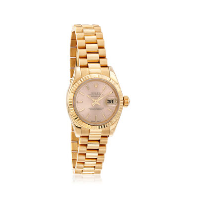 Pre-Owned Rolex Datejust Women's Automatic 26mm Watch in 18kt Yellow Gold, , default