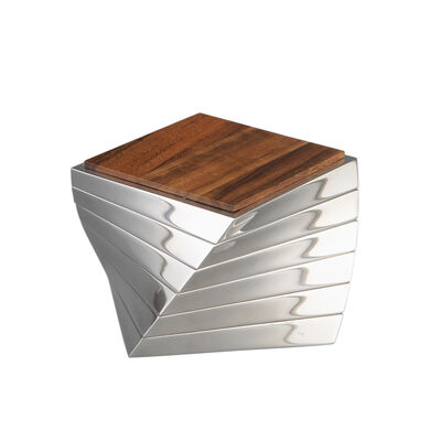 Nambe Set of 6 Acacia Wood Twist Coasters