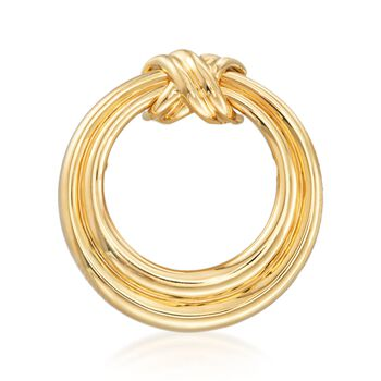 "C. 1990 Vintage Tiffany Jewelry 18kt Yellow Gold Circle ""X"" Pin , , default"