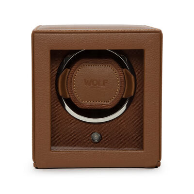 "Wolf ""Cub"" Cognac Leather Watch Winder, , default"