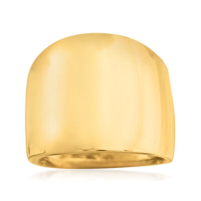 Gold Rings. Image Featuring Italian 14kt Yellow Gold Wide Polished Ring 868294