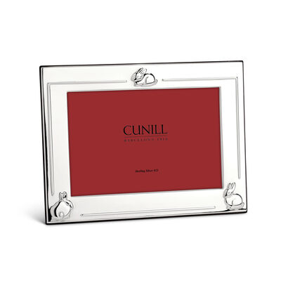 "Cunill Italian Sterling Silver ""Three Bunnies"" Picture Frame, , default"