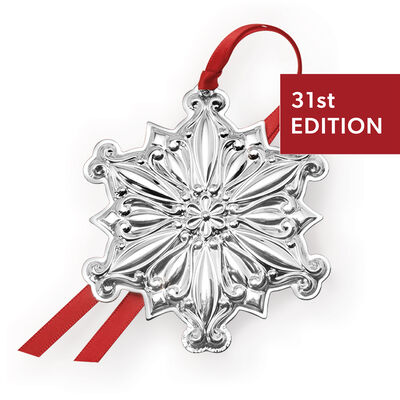 """Towle 2020 Annual """"Old Master"""" Sterling Silver Snowflake Ornament - 31st Edition"""