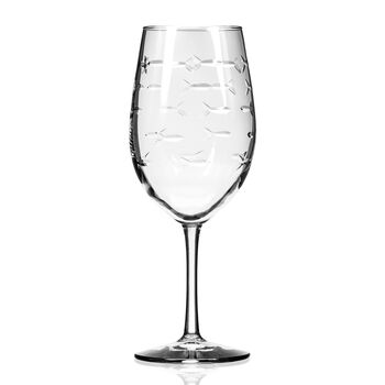 "Rolf Glass ""School of Fish"" Set of 4 White Wine Glasses, , default"