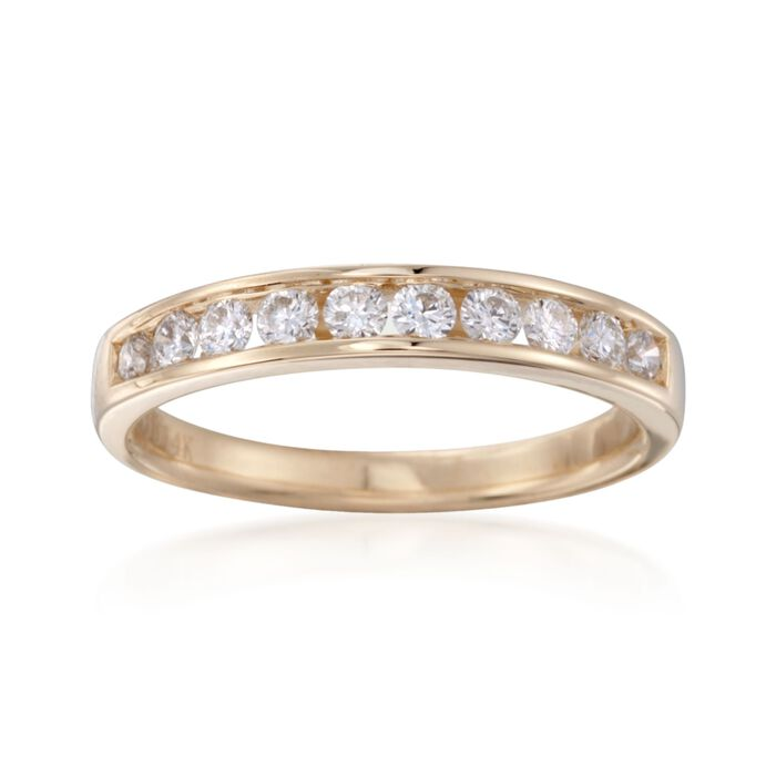 .50 ct. t.w. Channel-Set Diamond Ring in 14kt Yellow Gold