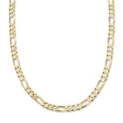 Men's 6mm 14kt Yellow Gold Figaro Chain Necklace, , default