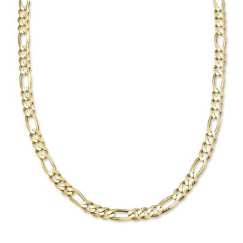 """Men's Figaro 6mm 14kt Yellow Gold Chain Necklace. 20"""", , default"""
