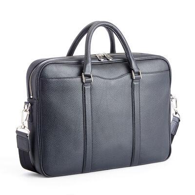 "Royce ""Executive Office"" Black Leather Laptop Messenger Bag, , default"