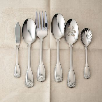 """Reed & Barton """"Colonial Shell II"""" 18/10 Stainless Steel Flatware"""