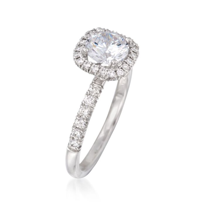 Simon G. .41 ct. t.w. Diamond Engagement Ring Setting in 18kt White Gold