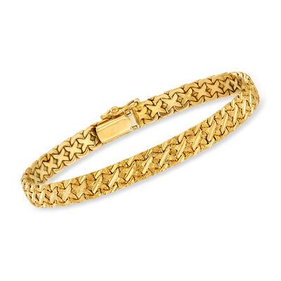 C. 1980 Vintage 14kt Yellow Gold Nugget-Style Bracelet, , default