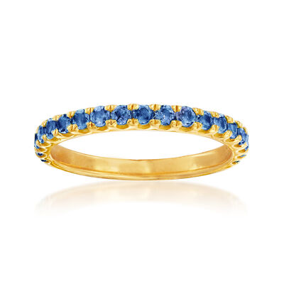 .80 ct. t.w. Sapphire Ring in 18kt Gold Over Sterling, , default