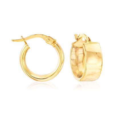 Italian 14kt Yellow Gold Huggie Hoop Earrings